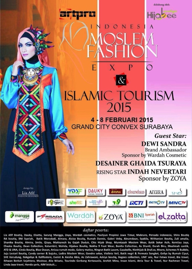 Info Liputan Blogger Surabaya Indonesia Moslem Fashion Expo 2015 Ahmed Tsar Blenzinky