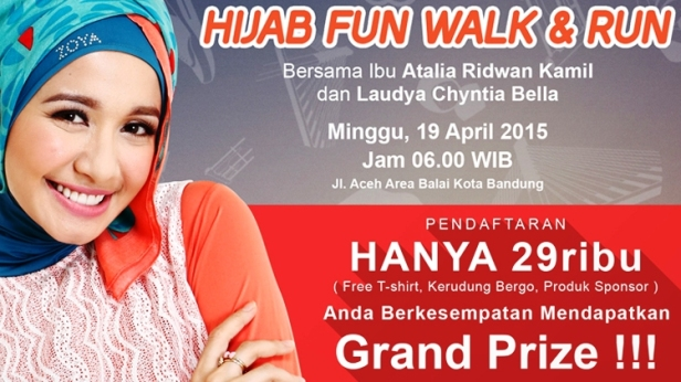 Hijab-Fun-Walk-Run-Laudya-Chintya-Bella-Atalia-Ridwan-Kamil