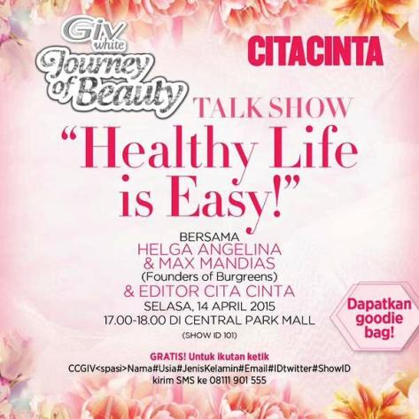 Talkshow-Giv-CiTACINTA-central-Park-Healthy-Life