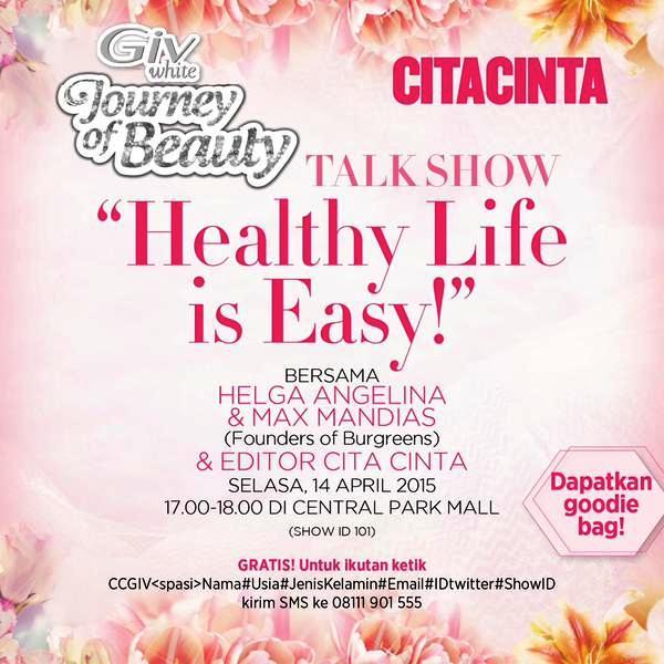 Talkshow-Giv-CiTACINTA-central-Park-Healthy-Life