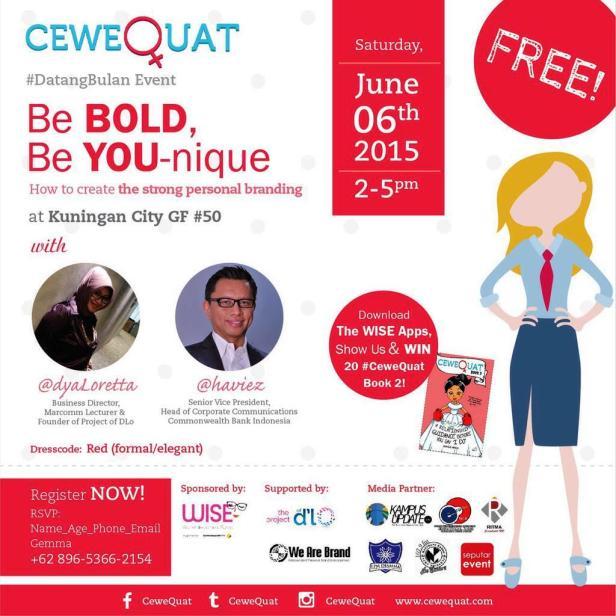 CeweQuat-Talk-June-2015-Personal-Branding-DyaLoretta-Haviez