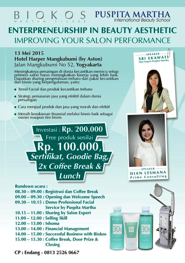 Seminar-Enterpreneurship-In-Beauty-Biokos-Puspita-Martha-Harper-Mangkubumi