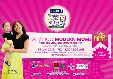 Talk-Show-Modern-Moms-TRANS7-Surabaya-Grand-City-Dian-Ayu