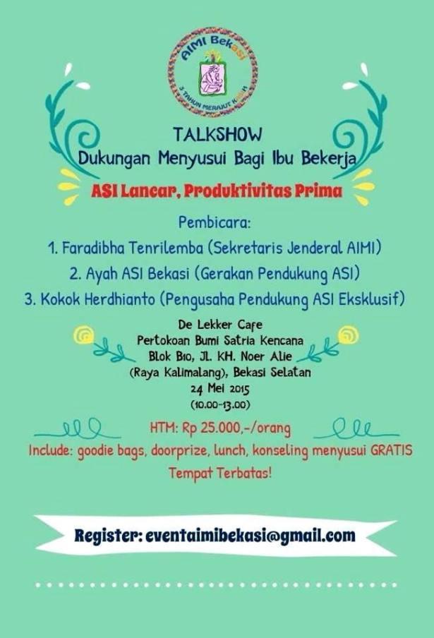 Talkshow-AIMI-Ayah-ASI-Bekasi-De-Lekker