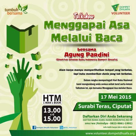 Talkshow-Volunteer-Dompet-Dhuafa-Surabi-Teras-Baca-Hari-Buku