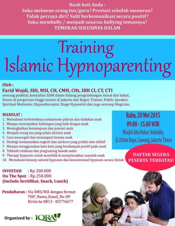 Training-Islamic-Hypnoparenting-Otista-Cawang