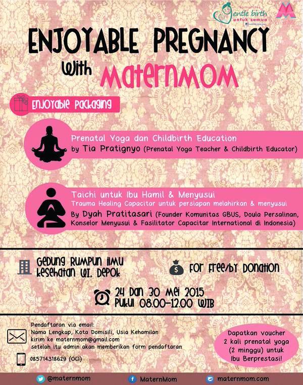 Workshop-Enjoyable-Pregnancy-Komunitas-Gentle-Birth-Untuk-Semua-GBUS-Yoga-Taichi-Matermom