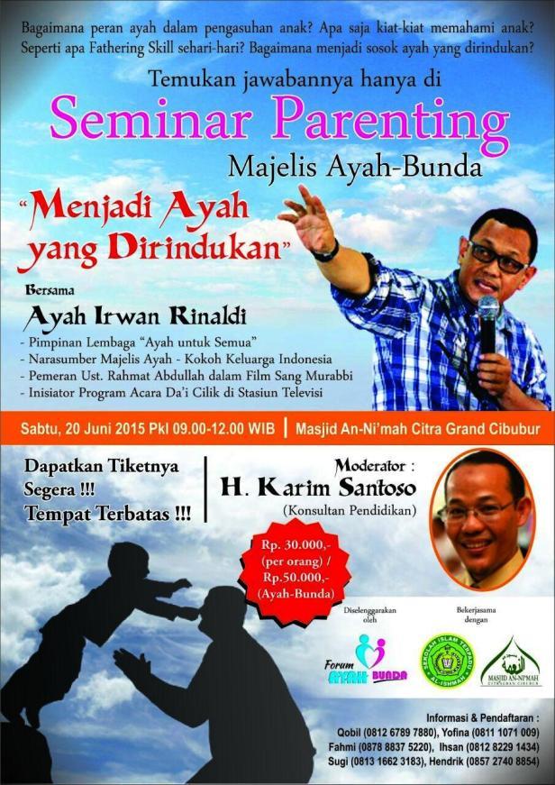 Seminar-Parenting-Ayah-Bunda-Irwan-Rinaldi-Citra-Grand-Cibubur