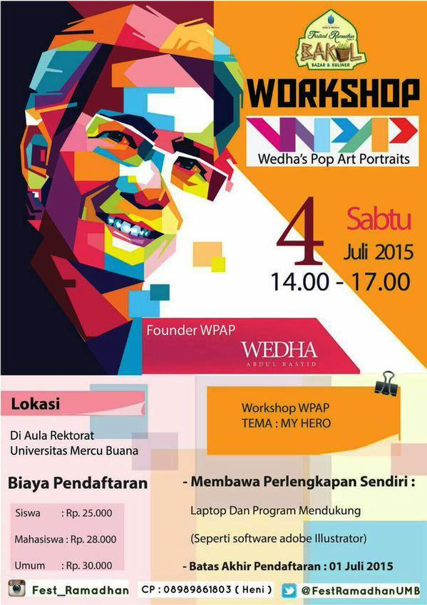 Workshop-Wedha-Pop-Art-Portraits-WPAP-Mercu-Buana