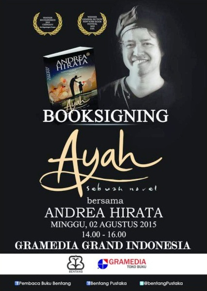 Booksigning-Ayah-Sebuah-Novel-Andrea-Hirata-Gramedia-Grand-Indonesia