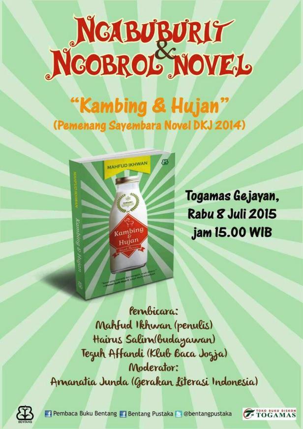 Kambing-Hujan-Pemenang-Sayembara-Novel-DKJ-2014-Ngabuburit-Mahfud-Ikhwan-Togamas-Gejayan