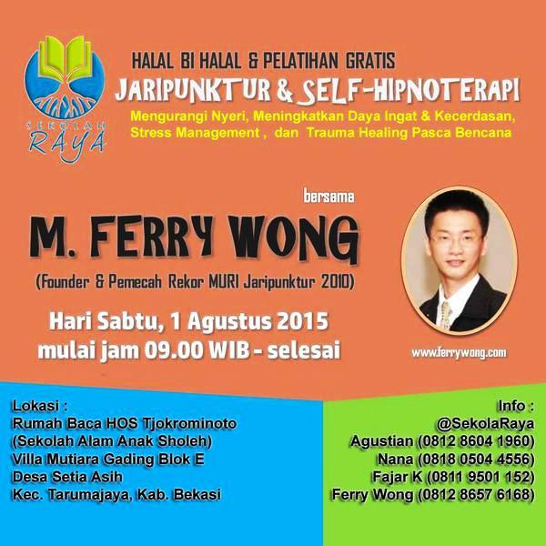 Sharing Jaripunktur Dan Hipnoterapi bersama Ferry Wong