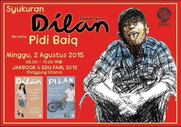 Syukuran-Launching Dilan-2-JakBook-Edu-Fair-2015-Pidi-Baiq-Mizan-Parkir-Timur-Senayan