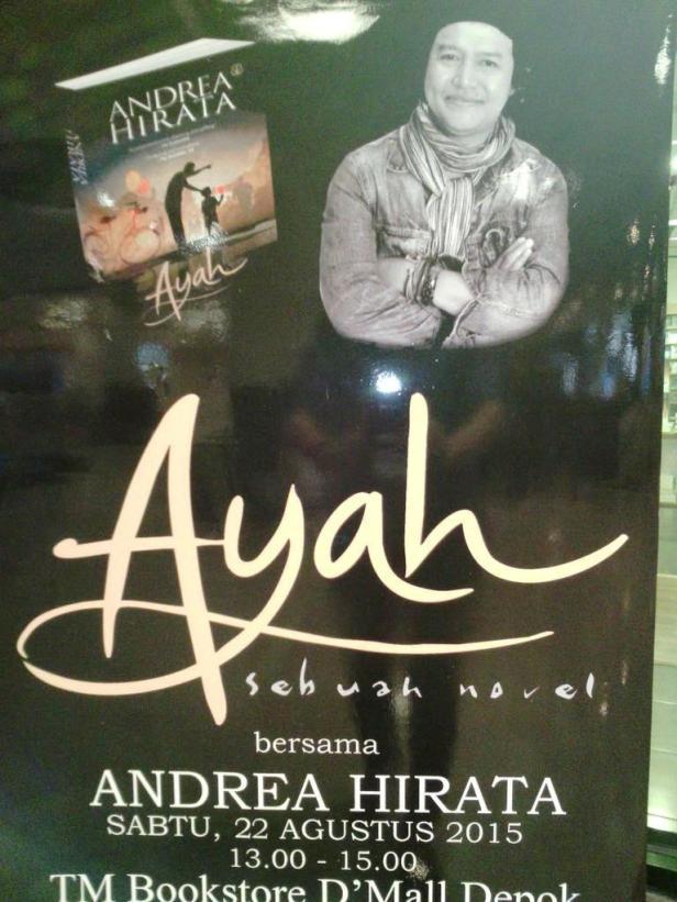 Booksigning-Novel-Ayah-Andrea-Hirata-TM-Bookstore-Depok-Town-Square