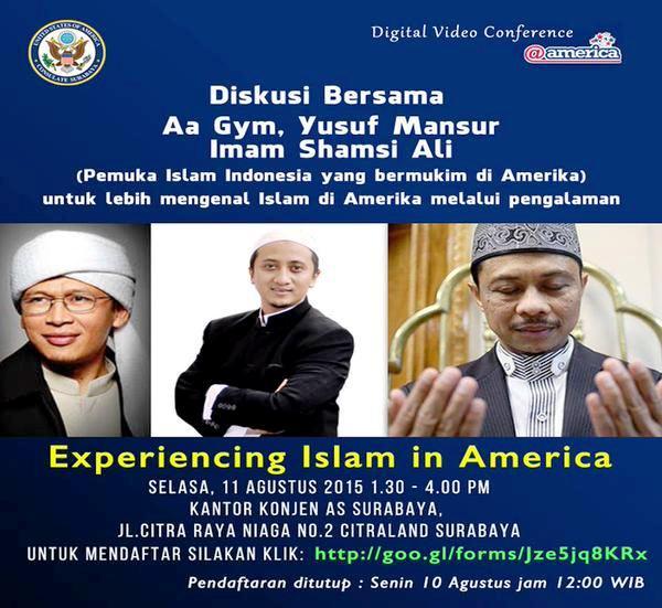 Diskusi-Bersama-Konsulat-Amerika-Experiencing-Islam-in-America-Aa-Gym-Yusuf-Mansur-Imam-Shamsi-Ali-Surabaya
