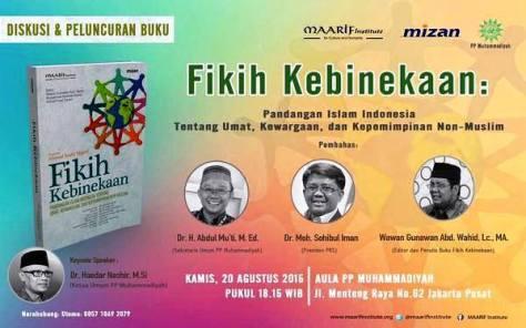 diskusi-Peluncuran-Buku-Fikih-Kebinekaan-Maarif-Institute-Muhammadiyah-Menteng