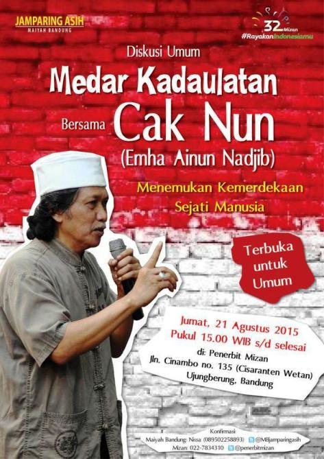 Diskusi-Umum-Jamparing-Asih-Cak-Nun-Emha-Ainun-Nadjib-Maiyah-Mizan-Bandung
