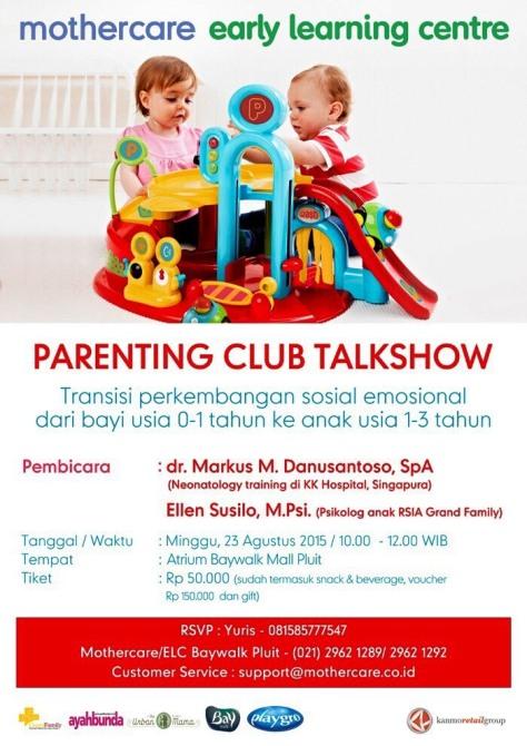 Parenting-Club-Talkshow-Mothercare-Baywalk-Mall-Pluit