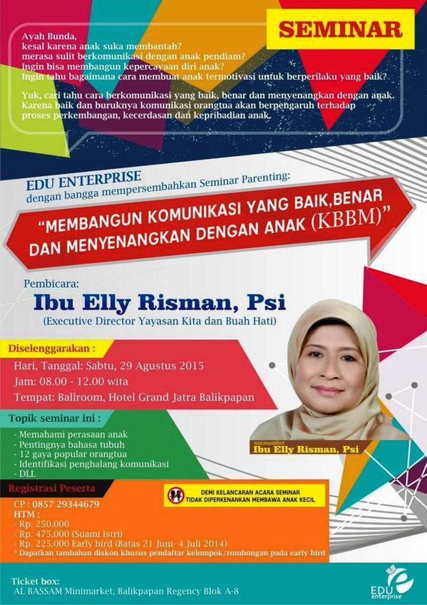 Seminar-Parenting-Elly-Risman-Grand-Jatra-Agustus-2015-Balikpapan