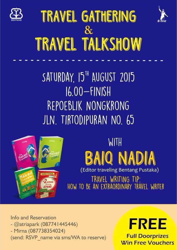 Travel-Gathering-Talkshow-Writer-Bentang-Repoeblik-Nongkrong-Tirtodipuran