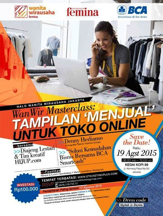 Wan-Wir-Masterclass-Femina-toko-online-Diajeng-Lestari-Denny-Herliyanso
