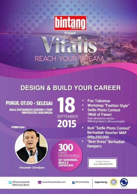 Talkshow-Bintang-Indonesia-Vitalis-Reach-Your-Dream-unair