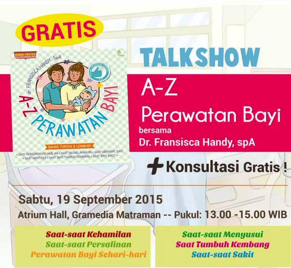 Talkshow-Buku-A-Z-Perawatan-Bayi-Fransisca-Handy-Gramedia-Matraman
