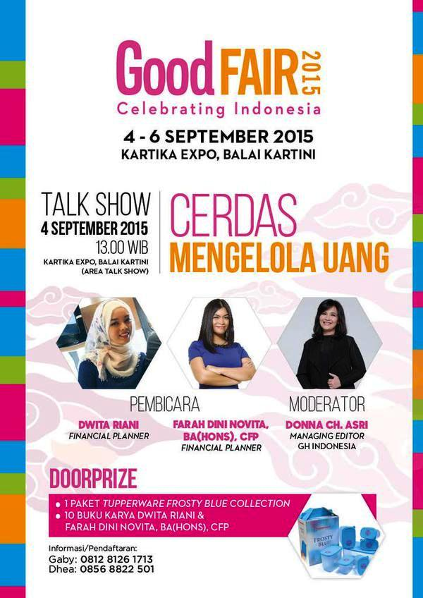 Talkshow-Good-Fair-2015-Cerdas-Mengelola-Uang-Balai-Kartini