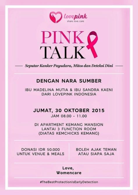 Breast-Cancer-Pink-Talk-Kanker-Payudara-SaDaRi-LovePink-Indonesia-Oktober-2015-Kemang