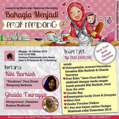 Launching-Buku-Bahagia-Menjadi-Emak-Rempong-Seminar-Parenting-Kiki-Barkah