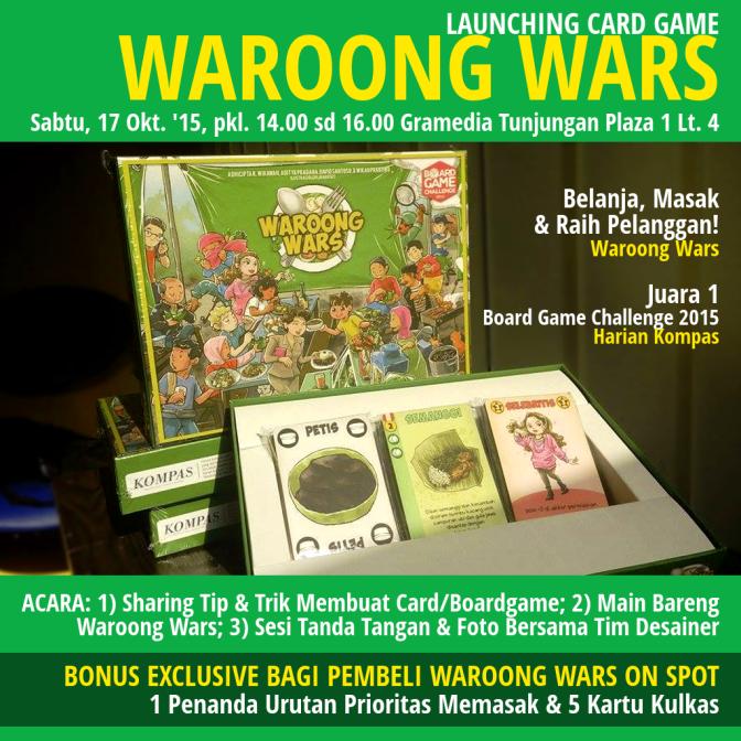Launching Card Game Waroong Wars-Belanja-Masak-Gramedia-Surabaya