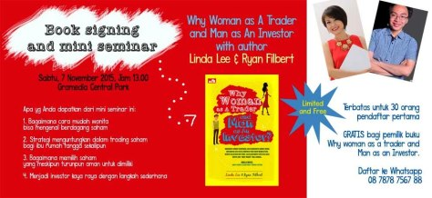 Mini-Seminar-Wanita-Saham-Why-Woman-As-A-Trader-And-Man-as-An-Investor-Linda-Lee-Ryan-Filbert-Gramedia-Central-Park