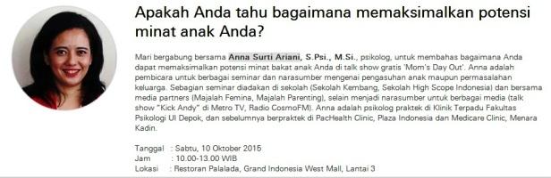 Moms-Day-Out-HSBC-Anna-Surti-Ariani-Restoran-Palalada-Grand-Indonesia-10-Oktober-2015