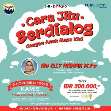 Seminar-Parenting-Shipta-Bintaro-Elly-Risman-November-2015-Titan-Center-Bintaro
