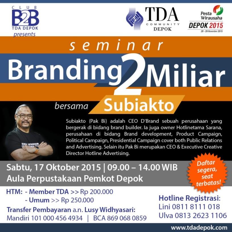 Seminar-TDA-Depok-Oktober-2015-BRANDING-Subiakto