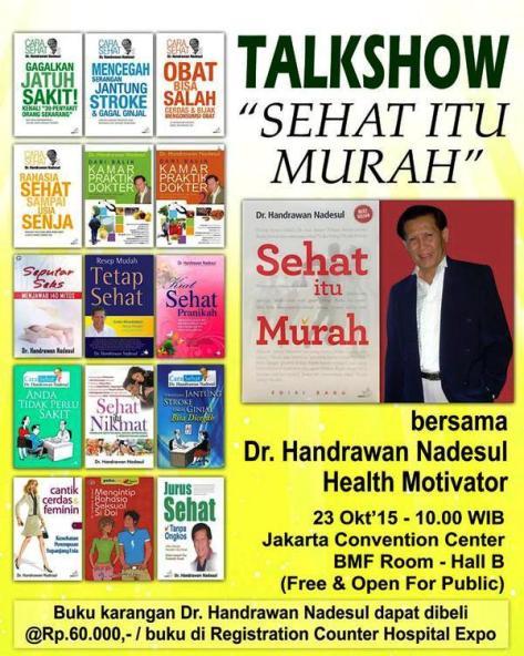 Talkshow-Hospital-Expo-Sehat-Murah-Handrawan-Nadesul-JCC