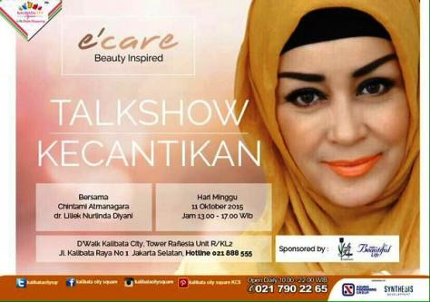 Talkshow-Kecantikan-e'care-Beauty-Inspired-Chintami-Atmanagara-D'Walk-Kalibata-City