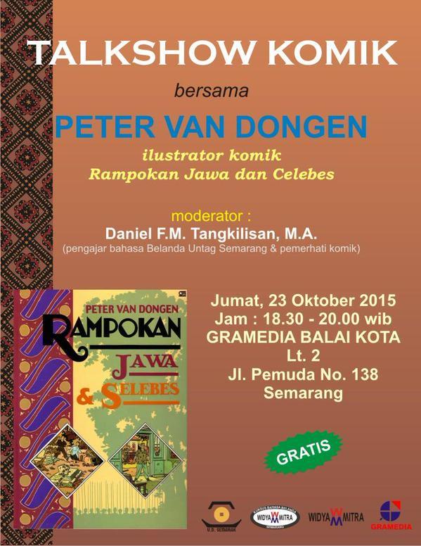 Talkshow-Komik-Rampokan-Jawa-Celebes-Peter-Vang-Dongen-Gramedia-Semarang-Oktober-2015