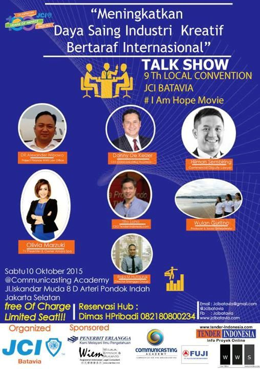 Talkshow-Local-Convention-JCI-Indonesia-Daya-Saing-Industri-Kreatif-Communicasting-Academy