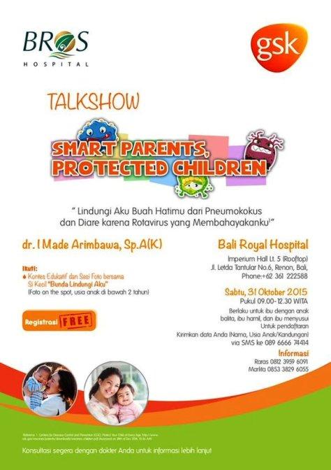 Talkshow-Smart-Parents-Protected-Children-Bali-BROS-Oktober-2015-Pneumokokus-Diare-Rotavirus