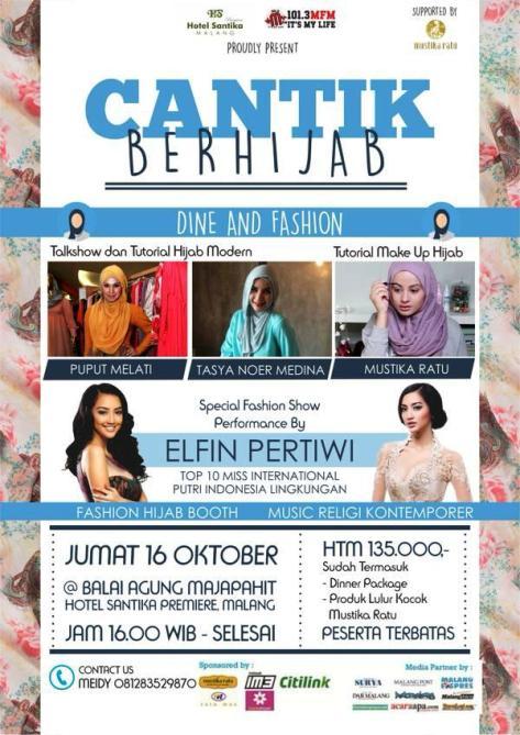 Talkshow-Tutorial-Cantik-Berhijab-Mustika-Ratu-Hotel-Santika-Dine-Fashion