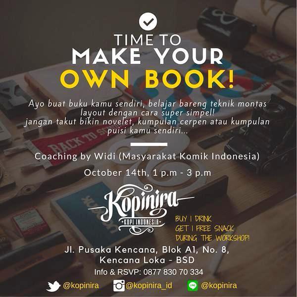 Workshop-Make-Your-Own-Book-Masyarakat-Komik-Indonesia-Kopinira-BSD
