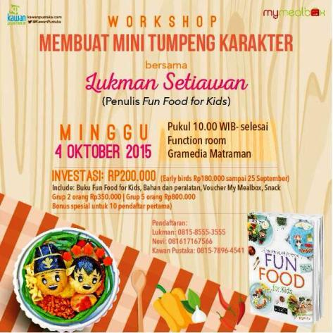 Workshop-Membuat-Mini-Tumpeng-Karakter-Kawan-Pustaka-Fun-Food-For-Kids-Gramedia-Matraman