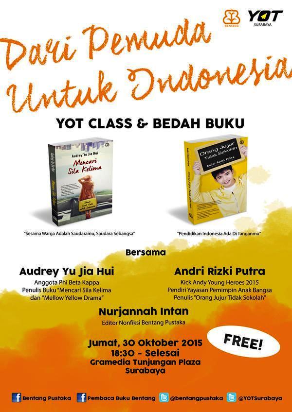 YOT-Class-Bedah-Buku-Bentang=Pustaka-Andri-Rizki-Putra-Gramedia-Tunjungan-Plaza