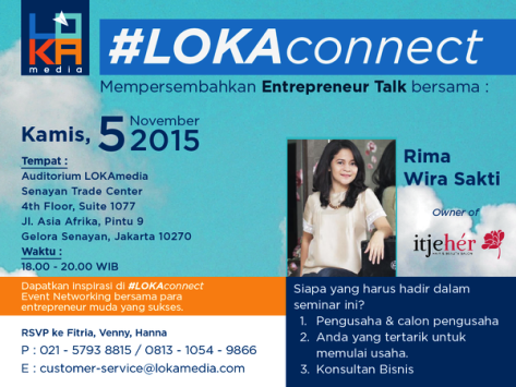 Entrepreneur-Talk-#LOKAconnect-Bisnis Hair-dan-Beauty-Salon-itjeher-November-2015