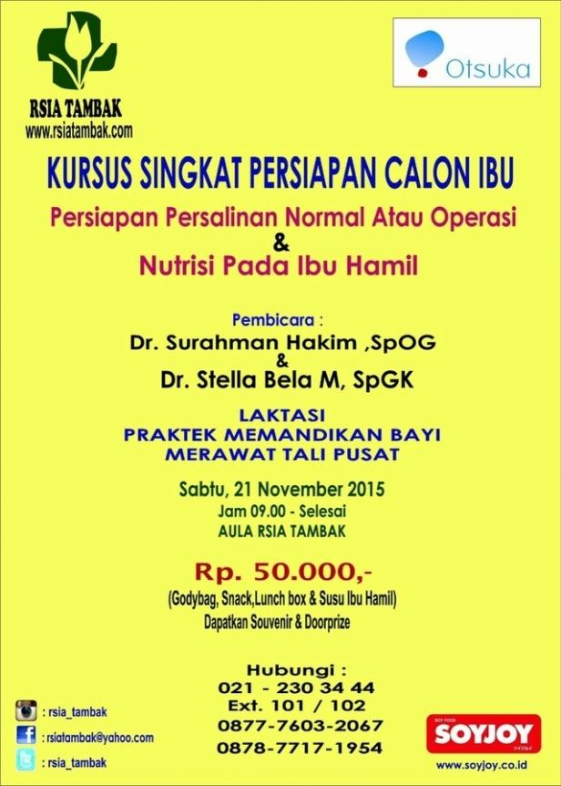 Kursus-Singkat-Persiapan-Calon-Ibu-RSIA-Tambak-November-2015