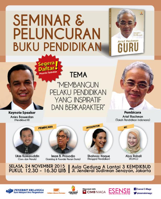 Peluncuran-Buku-Pendidikan-Arief-Rachman-November-Blogger-Jakarta-2015