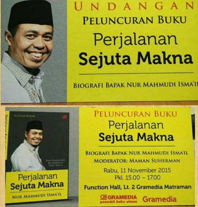 Peluncuran-Buku-Perjalanan-Sejuta-Makna-Nur-Mahmudi-Ismail-Gramedia-Matraman-November-2015