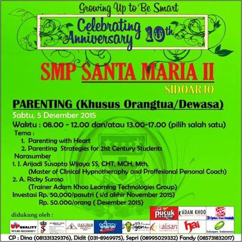 Seminar-Parenting-Adam-Khoo-Learning-Technologies-Group-SMP-Santa-Maria-II-Sidoarjo-Desember-2015