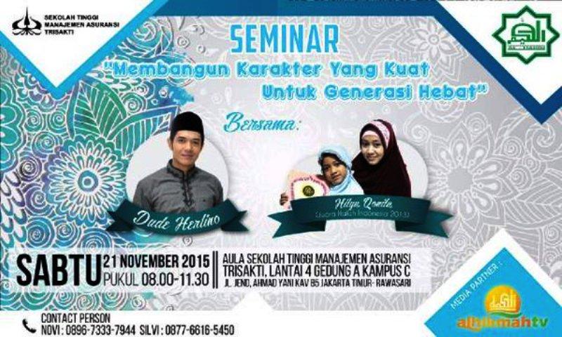 Seminar-Parenting-Generasi-Qurani-Dude-Herlino-Trisakti-November-2015